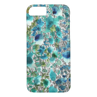Peduncle and water color blue system iPhone 7 case