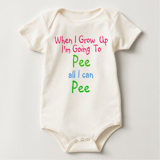 PEE ALL I CAN PEE, INFANT ONSIE ROMPERS