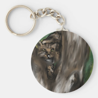 pee-ka-boo hide and seek leopard keychain
