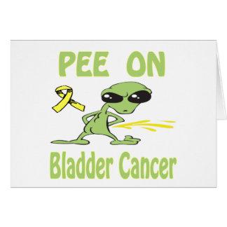 Pee On Bladder Cancer Card