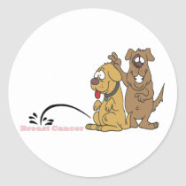 Pee on Breast Cancer Classic Round Sticker