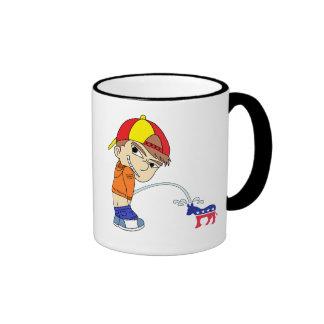 Pee on Democrat Donkey Ringer Mug