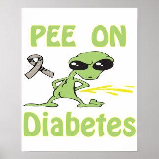 Pee On Diabetes Poster
