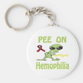 Pee On Hemophilia Keychain