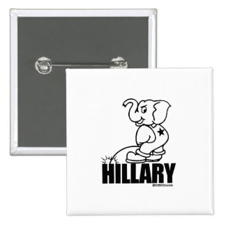 Pee on Hillary 2 Inch Square Button