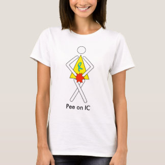 Pee on IC Restroom Lady - White background T-Shirt