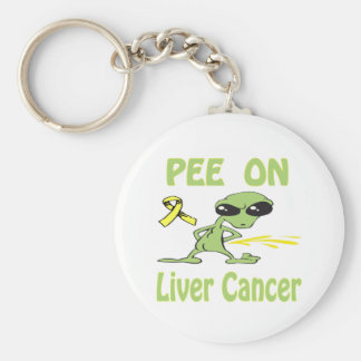 Pee On Liver Cancer Keychain