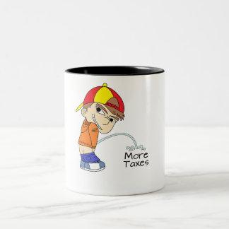 Pee on More Taxes Two-Tone Coffee Mug