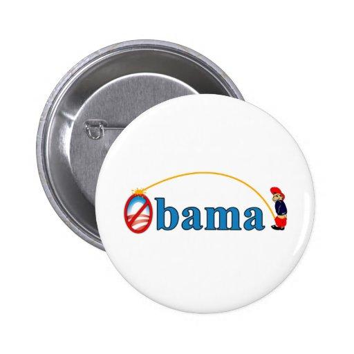 Pee on Obama 2 Inch Round Button