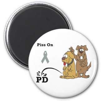 Pee on Parkinson's Disease 2 Inch Round Magnet