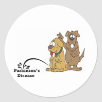 Pee on Parkinson's Disease Classic Round Sticker