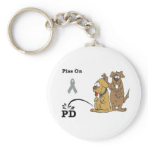 Pee on Parkinson's Disease Keychain
