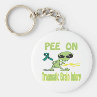 Pee On Traumatic Brain Injury Keychain