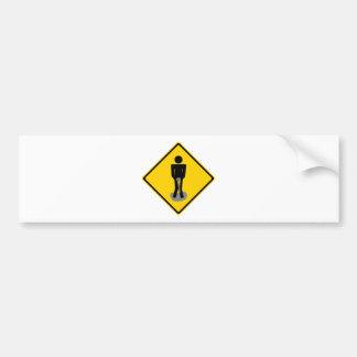 Pee Pants Road Sign Car Bumper Sticker