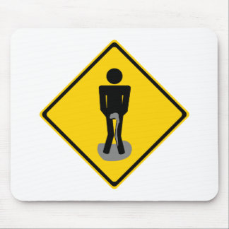 Pee Pants Road Sign Mouse Pad
