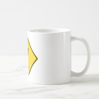 Pee Pants Road Sign Classic White Coffee Mug