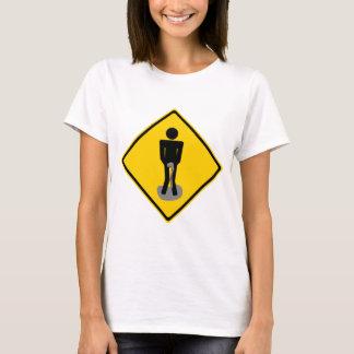 Pee Pants Road Sign T-Shirt