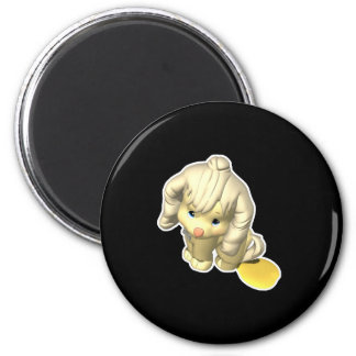 Pee Pee Puddle Puppy Refrigerator Magnets