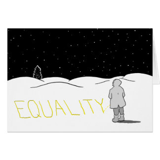 Pee the change you want to see: Equality Greeting Card