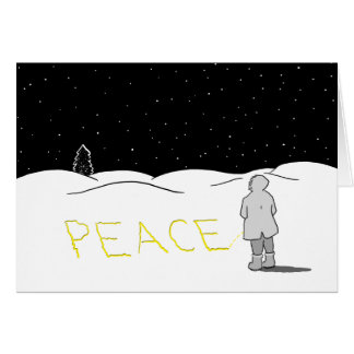 Pee the change you want to see: Peace Greeting Card