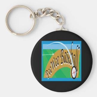 Pee Wee Baseball Basic Round Button Keychain