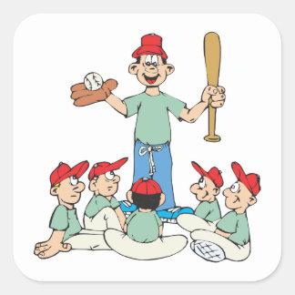 Pee Wee Baseball Square Sticker