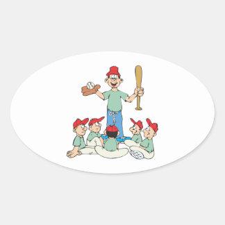 Pee Wee Baseball Oval Sticker