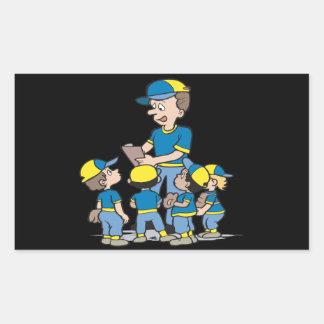 Pee Wee Baseball Rectangular Sticker