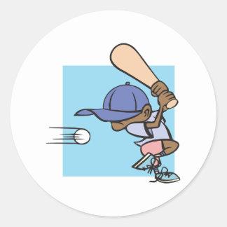 Pee Wee Baseball Classic Round Sticker