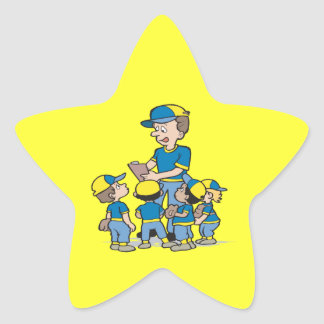 Pee Wee Baseball Star Sticker