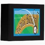 Pee Wee Baseball Vinyl Binder