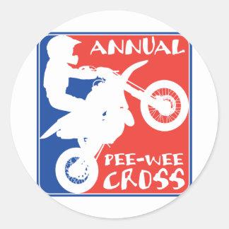 Pee Wee Cross Classic Round Sticker