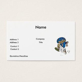 pee wee football kid running with football business card