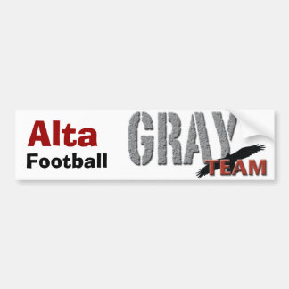 Pee wee Grey Banner, Alta , Football Car Bumper Sticker