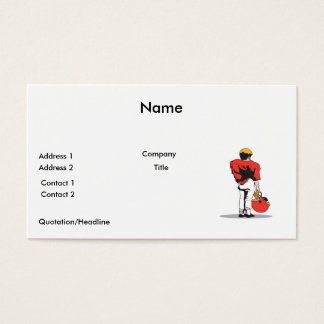 pee wee kids football player red business card