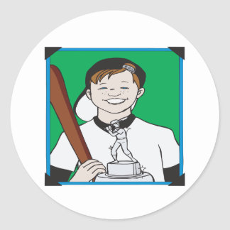Pee Wee Trophy Classic Round Sticker