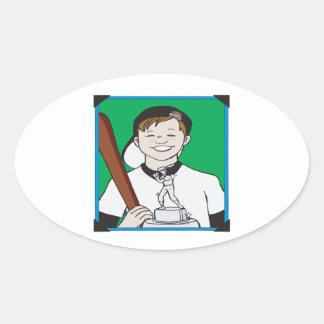 Pee Wee Trophy Oval Sticker