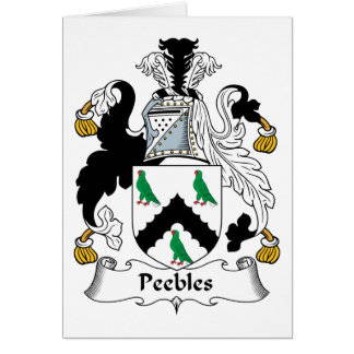 Peebles Family Crest Greeting Card