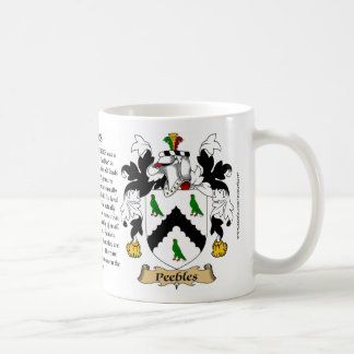 Peebles, the Origin, the Meaning and the Crest Coffee Mug