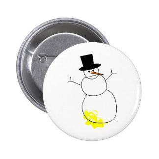 Peed on Snowman Button