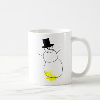 Peed on Snowman Coffee Mug