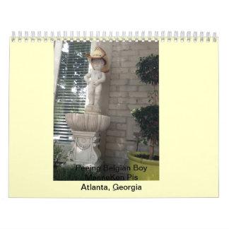 Peeing Belgian Boy - Manneken Pis Wall Calendar