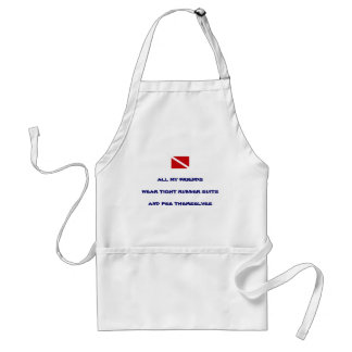 Peeing Cooking Scuba Diver Adult Apron