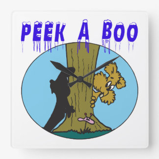Peek A Boo 2 Wallclocks