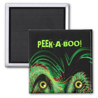 PEEK-A-BOO! 2 INCH SQUARE MAGNET