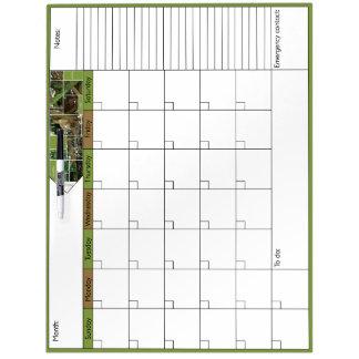 Peek-A-Boo 6W Calendar Dry-Erase Board