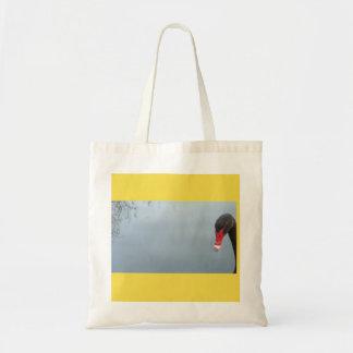 Peek-A-Boo - a cheeky swan Tote Bag