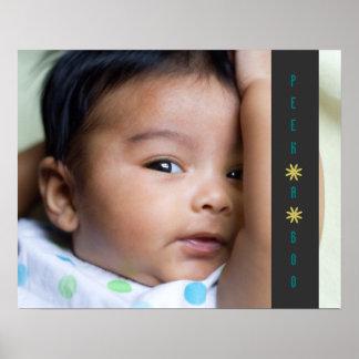 Peek A Boo Adorable Baby Poster