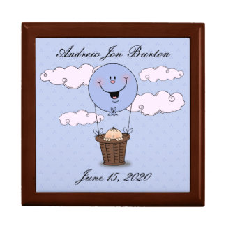 Peek a Boo Baby Boy (Light Skin) Keepsake Box