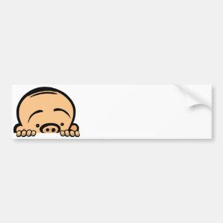 Peek a boo baby bumper sticker